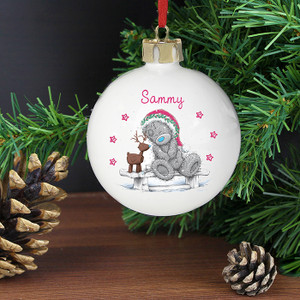 Personalised Me To You Reindeer Bauble From Something Personal