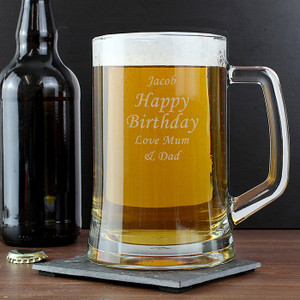 Personalised Engraved Glass Pint Stern Tankard From Something Personal