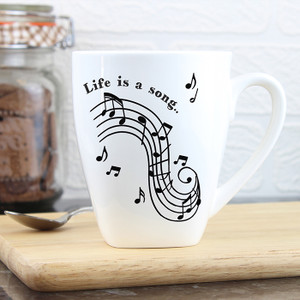 Personalised Musical Notes Latte Mug From Something Personal