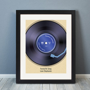 Personalised Retro Vinyl Black Poster Frame From Something Personal