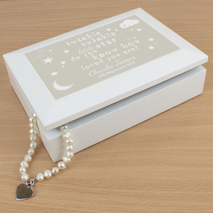 Personalised Twinkle Twinkle Jewellery Box From Something Personal