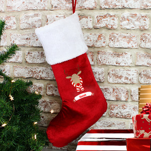 Personalised Retro Reindeer Stocking From Something Personal