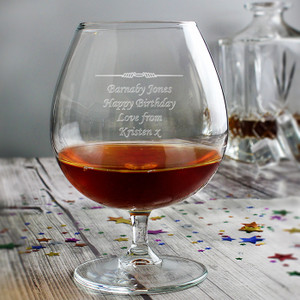 Personalised Decorative Brandy Glass From Something Personal