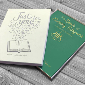 Personalised My Book Of Nursery Rhymes Embossed Classic Hardcover From Something Personal