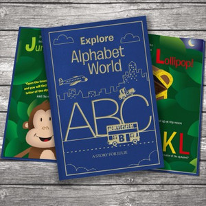 Personalised Alphabet World Embossed Classic Hardcover From Something Personal