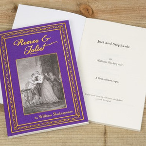 Personalised Romeo And Juliet Novel From Something Personal