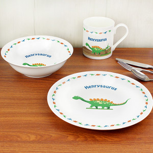 Personalised Dinosaur Breakfast Set From Something Personal