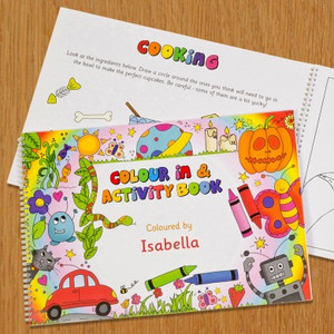 Personalised Colour In and Activity Book From Something Personal