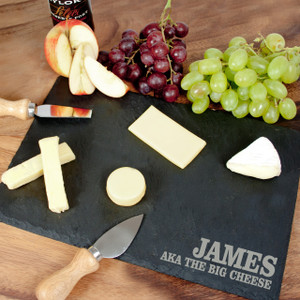 Personalised Rustic Slate Cheese Board From Something Personal