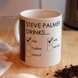 Personalised drinking preferences mugs from www.SomethingPersonal.co.uk