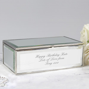 Personalised Mirrored Jewellery Box From Something Personal