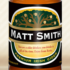 Personalised Traditional Label Cider From Something Personal