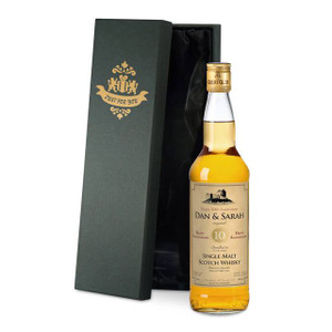 Personalised Single Malt Whisky With Anniversary Label From Something Personal