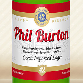 Personalised Lager With Birthday Label From Something Personal