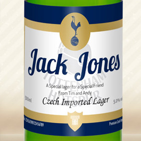 Personalised Spurs Labels Lager From Something Personal