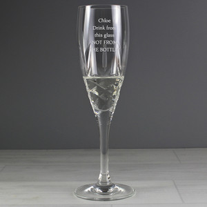 Personalised Crystal Champagne Flute From Something Personal