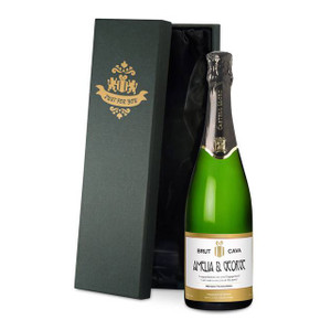 Personalised Cava With Labels From Something Personal