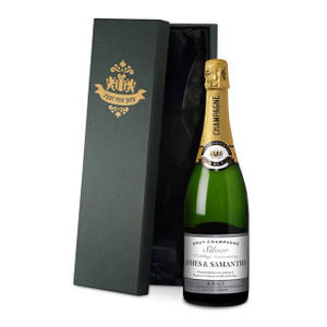 Personalised Silver Anniversary Labels Champagne From Something Personal