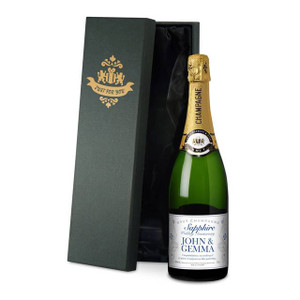 Personalised Sapphire Anniversary Labels Champagne From Something Personal