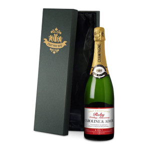 Personalised Ruby Anniversary Labels Champagne From Something Personal