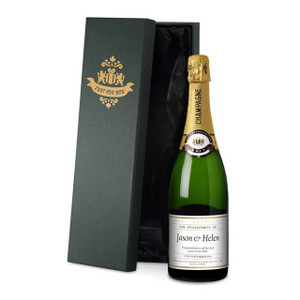Personalised Engagement Date Champagne From Something Personal