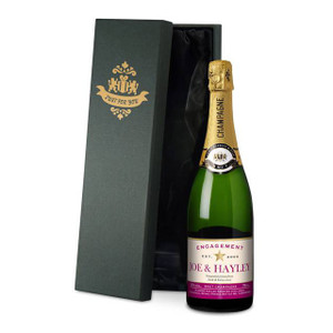 Personalised Star Engagement Champagne From Something Personal