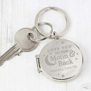 Personalised To The Moon And Back...Photo Keyring From Something Personal