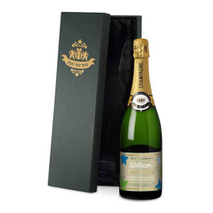 Personalised Fathers' Day Labels Champagne From Something Personal