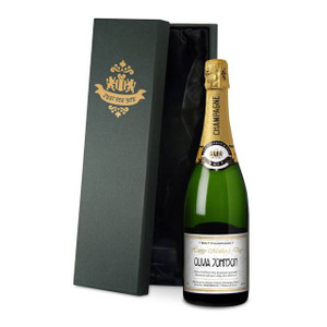 Personalised Mother's Day Labels Champagne From Something Personal