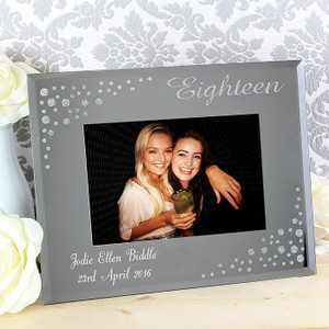 Personalised Eighteen Diamante Glass Photo Frame From Something Personal