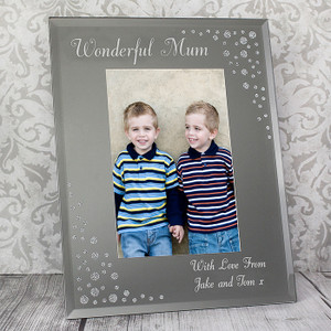Personalised Diamante Portrait Glass Photo Frame From Something Personal