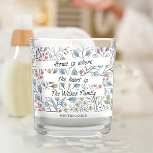 Personalised Botanical Scented Jar Candle From Something Personal