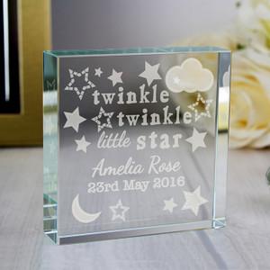 Personalised Twinkle Twinkle Crystal Token From Something Personal