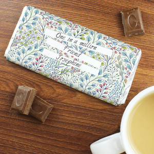 Personalised Botanical Chocolate Bar From Something Personal