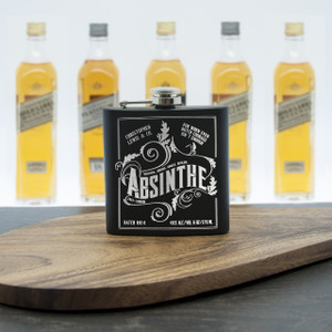 Personalised Absinthe Vintage Hip Flask From Something Personal