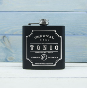 Personalised Tonic Vintage Hip Flask From Something Personal