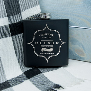 Personalised Elixir Vintage Hip Flask From Something Personal