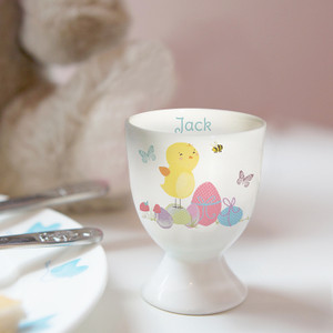 Personalised Easter Meadow Chick Egg Cup From Something Personal
