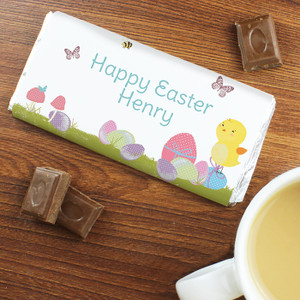 Personalised Easter Meadow Chick Chocolate Bar From Something Personal