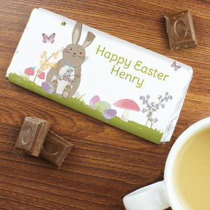 Personalised Easter Meadow Bunny Chocolate Bar From Something Personal