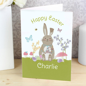Personalised Meadow Easter Bunny Card From Something Personal