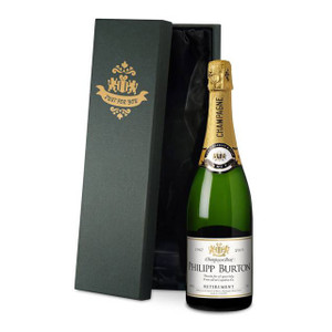 Personalised Retirement Label Champagne From Something Personal