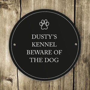 Personalised Paw Prints Pet Sign From Something Personal