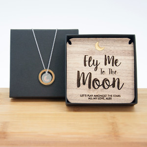 Personalised To The Moon Necklace & Keepsake From Something Personal