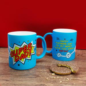 Personalised Superdad! Matt Blue Mug From Something Personal