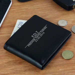 Personalised Classic Black Wallet From Something Personal