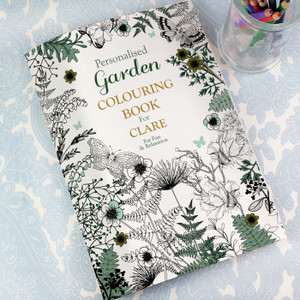 Personalised Gardening Colouring Book From Something Personal