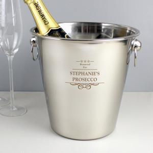 Personalised Stainless Steel Ice Bucket From Something Personal