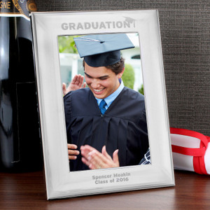 Personalised Silver Graduation Photo Frame From Something Personal