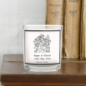 Personalised 1805 - 1874 Map Home Scented Jar Candle From Something Personal